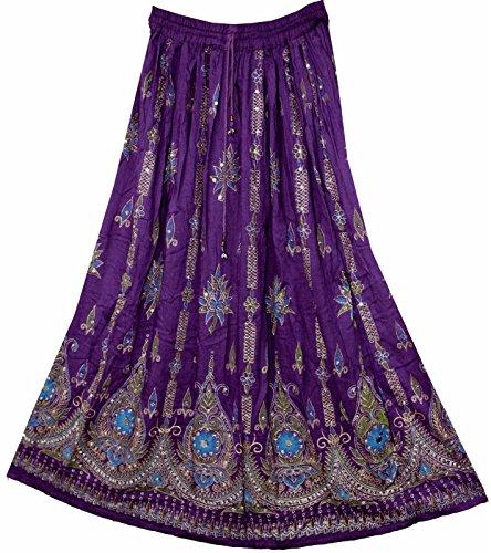 Maxirock im Boho-Stil, für Damen, Größen: M, L, PS-212 (Indische Hippie Kostüm)