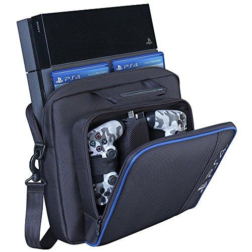 Transporttasche für Playstation 4 / Slim Schwarz, ps4 Aufbewahrungstasche, reisekonsole aufbewahrungsbeutel Stoßfest Playstation Schutzrucksack Spiele Zubehör Geeignet für PS4 Slim