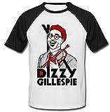 Photo de teesquare1st Men's Dizzy Gillespie Jazz Black Short Sleeved T-Shirt par teesquare1st