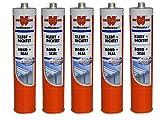 5 x Würth Konstruktionsklebstoff Klebt + Dichtet weiß (4011231819732) 300ml