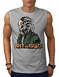 Wellcoda Lost in Space Men S-5XL Sleeveless T-Shirt