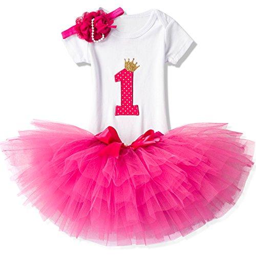 NNJXD Ragazza Shinny Stripe Bambina Senza Maniche Tutu Stampa Vestito da Compleanno Taglia(1) 1 Anni Colore Rosa