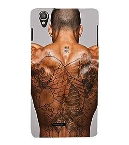 PrintVisa Man Body Art 3D Hard Polycarbonate Designer Back Case Cover for Lava Iris X8
