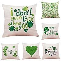 COFACE cushion covers printed pattern 45 cm x 45 cm linen cotton breathable 4/6-piece set Cotton linen (style G(6 PCS))