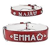 Lederhalsband rot bestückbar mit Buchstaben Myname-Serie - 2