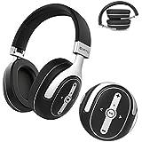 Auricular con micrófono Bluetooth 4.0, Earto auricular Bluetooth de oídos pasivo con tecnología aptX, micrófono integrado y gran capacidad, Headset Kit manos libres para cámara Bluetooth IOS/Android