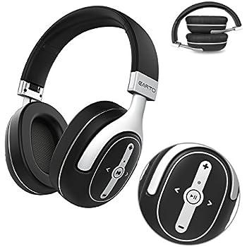 Bluetooth Drahtlose Stereo Kopfhörer, Earto Bluetooth Over-Ear Stereo Headset mit aptX Technologie und Integriertem Mikrofon, 24 Stunden Akkulaufzeit, Hi-Fi Sound, Silber