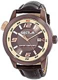 Sector Herren-Armbanduhr Analog Quarz Leder R3251102020