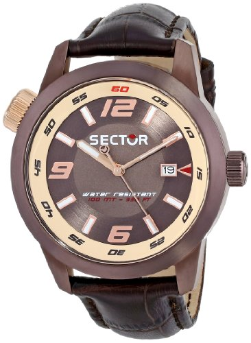 Sector  R3251102019 - Reloj de cuarzo para hombre, con correa de cuero, color negro