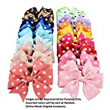 Best Hair Bows - Online Monk Girl's Polka Dots 3-inch Ribbon Hair Review