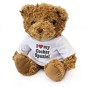 London Teddy Bears I Love My Cocker Spaniel - Oso de Peluche - Bonito Peluche Suave - Regalo para Perro cumpleaños Navidad