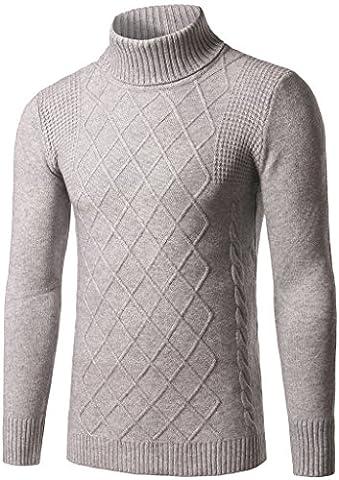 Whatlees Men Design warm winter thick Sweatshirts Contrast Knit sweater