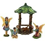 Feengartenverzierungen. Miniaturfeenfiguren und Zubehör, Pavillon-Set für Feengarten von Pretmanns