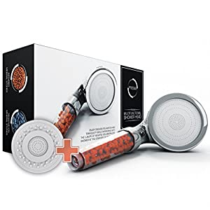 PRISMA® Premium Duschkopf Handbrause wassersparend mit Druckerhöhung für mehr Wasserdruck - Brausekopf, Regendusche und Massage