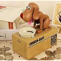 Comer dinero Hucha perro gracioso eléctrico Cartoon Creativa banco de monedas