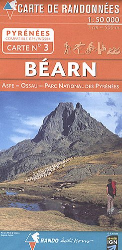 Bearn - National Park of the Pyrenees: RANDO.03 - Echelle 1 cm = 500 m par Rando éditions