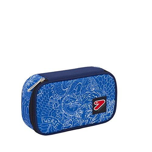 Portapenne round plus big scuola seven the double - whiz - blue - porta penne