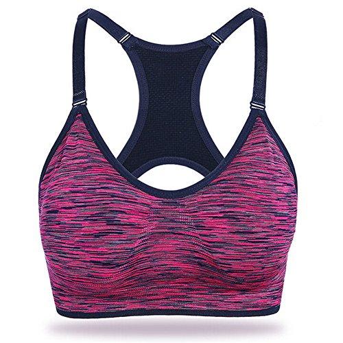 zrong Femme Padded athletischer Sport Yoga Jogging Bra Top Gilet d'entraînement Violet - Lilas