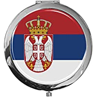"""metALUm - Extragroße Pillendose in runder Form""""Flagge Serbien"""" preisvergleich bei billige-tabletten.eu"""