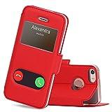 FYY Coque iPhone Se, Coque iPhone 5S, Coque iPhone 5, Housse Magnetique Smart View...