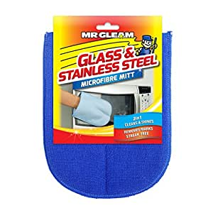 Mr Gleam Microfibre Glass and Stainless Steel Mitt