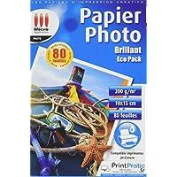 Papier Photo Brillant 10x15 - Eco pack - 200 g/m² - 80 feuilles