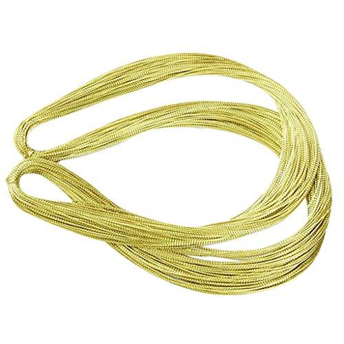 Environ 100 m¨¨tres 1 mm pour fil m¨¦tallique Dor¨¦ Craft Supplies Bijoux DIY