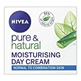 NIVEA Pure & Natural Face Cream for Normal and Combination Skin, 50 ml