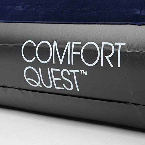 514GE4jHF6L. SS500  - Comfort Quest Double Airbed, Inflatable Guest Air Bed, Blow Up Camping Mattress, Flocked Surface, Coil Beam Construction, L191cm x W137cm x D22cm, Max Weight 295kg