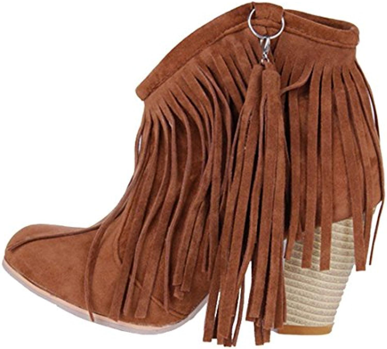 les femmes vitalo talon haut de bottes de de de cow boy mesdames ouest bloc bottines b07fytl89w parent   Une Performance Supérieure  200f0f