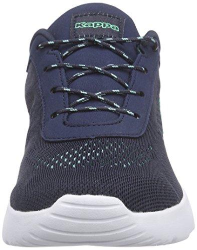 Kappa Delhi Footwear Unisex, Mesh, Low-Top Sneaker femme bleu (6737 navy/mint)
