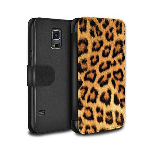 Stuff4® PU-Leder Hülle/Case/Tasche/Cover für Samsung Galaxy S5 Neo/G903 / Gelb Muster/Leopard Tier Haut/Print Kollektion Leopard Cover