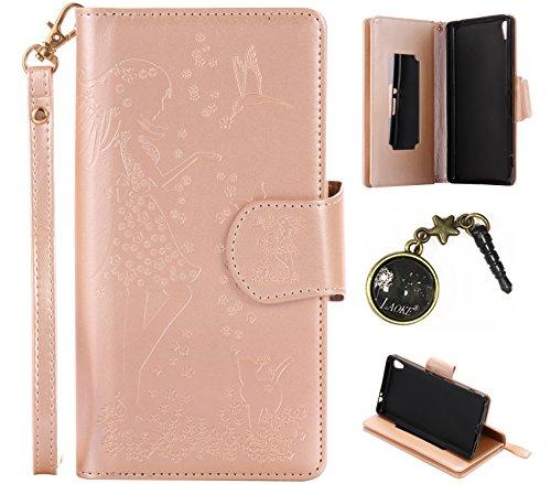 Preisvergleich Produktbild PU Abdeckungs-Fall Smartphone Sony Xperia XA Ultra (Nicht Sony Xperia XA) PU-Mappe Kasten Schutzhülle Geldbörse , Kreditkartenschlitz (Schlitz 9), Silikon Schutzhülle Handyhülle Painted zum Schutz + Staubkappe (5VN)