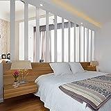LNPP Miroirs rectangulaires Stickers muraux pour chambre / salon, un ensemble de 10 PCS , sliver , small