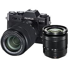 Fujifilm X-T10 Fotocamera Digitale con Doppio Obiettivo XC16-50 MM F3.5-5.6 OIS II e XC50-230 MM F4.5-6.7OIS II, 16 Megapixel, Sensore CMOS X-Trans APS-C, Ottiche Intercambiabili, Nero