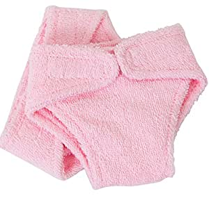 FRILLY LILY TWO PINK DOLLS TERRY NAPPIES MEDIUM