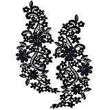 Magideal Black Floral Lace Applique Embr...