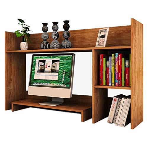 HAMIMI Desktop Home Student Kleines Bücherregal Speicher Lagerregal Büro Computer Schreibtisch Rack Speichereinheit (Color : Brown) (Kleiner Computer-schreibtisch-speicher)