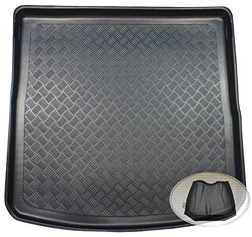 ZentimeX Z3325902 Geriffelte Kofferraumwanne fahrzeugspezifisch + Klett-Organizer (Laderaumwanne, Kofferraummatte)