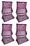 #10: Afrose Pack of 4 Jewellery 5 Pouches Necklace Earrings Tops Studs Half Set Bag Box Case Organizer for Women Girls