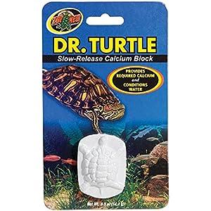 Zoo Med MD-11e Dr. Turtle Slow-Release Calcium Block, für Wasserschildkröten, löst sich im Wasser auf
