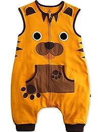 Vaenait baby 86-122 Kleinkinder Jungen Unisex mit Beinen 100% Baumwolle Schlafsack Einteiler Spielanzug Schneeanzug Sleep Tiger
