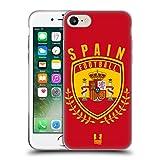 Head Case Designs Spanien Fussball Wappen Soft Gel Hülle für Apple iPhone 7 / iPhone 8