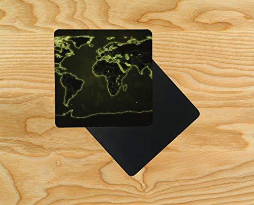 karte in Neon-Lichtern, Holz, 10 x 10 cm, holz, mehrfarbig, 10er-Pack ()