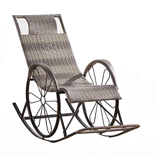 LHNLY-Liegen Grau Rattan Saunaliege Sonnenlieg Liegestühle Freizeitliege Gartenliege Liegestuhl Relaxliege Strandstuhl Liege Campingliege Campingstuhl mit Liegefunktion, Max. 150 kg