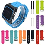 #1: Voberry Soft Silicone Strap Replacet Watch Band + Lugs Adapters for Garmin Forerunner Fr 920Xt GPS Watch