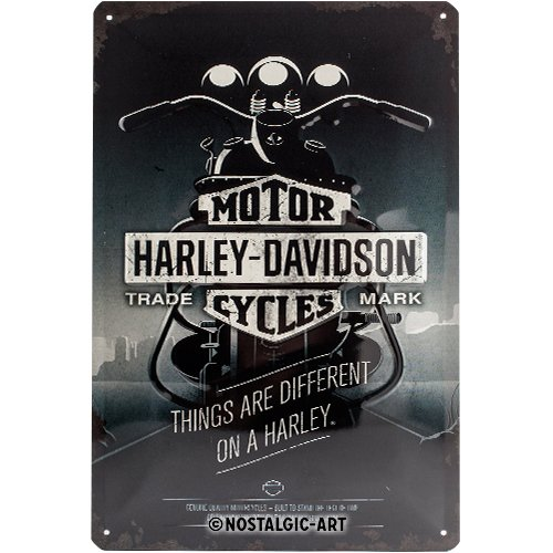 Nostalgic-Art Harley Davidson Things Are Different - Placa decorativa, metal, 20 x...