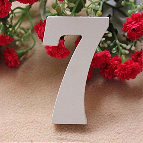 lz Zahlen Brautschmuck Hochzeit Ornaments Party Home Tisch Dekoration 7 ()
