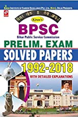 Kiran's BPSC Preliminary Exam Solved Papers 1992 to 2018 English - 2304