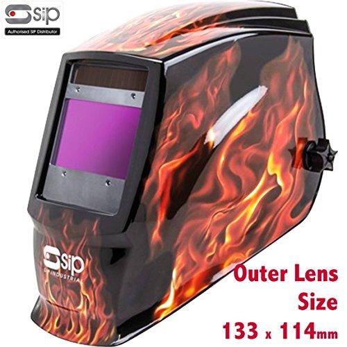 Sip 02886Meteor 2300F Schweißerset Automatik Schweißhelm Schleifstifte Headshield Maske Helm